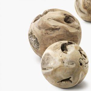 Teak-balls-sized