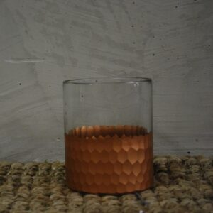 T_11 Rose gold tealight jar