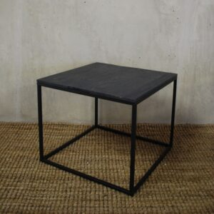 T_44 Black iron leg side table