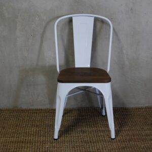 Tolix Chair Antique with Wood Seat