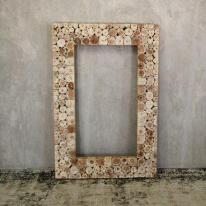 Mirror Teak Branch 150x100