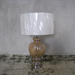 S_Lamp Coffee Glass Base w Shade