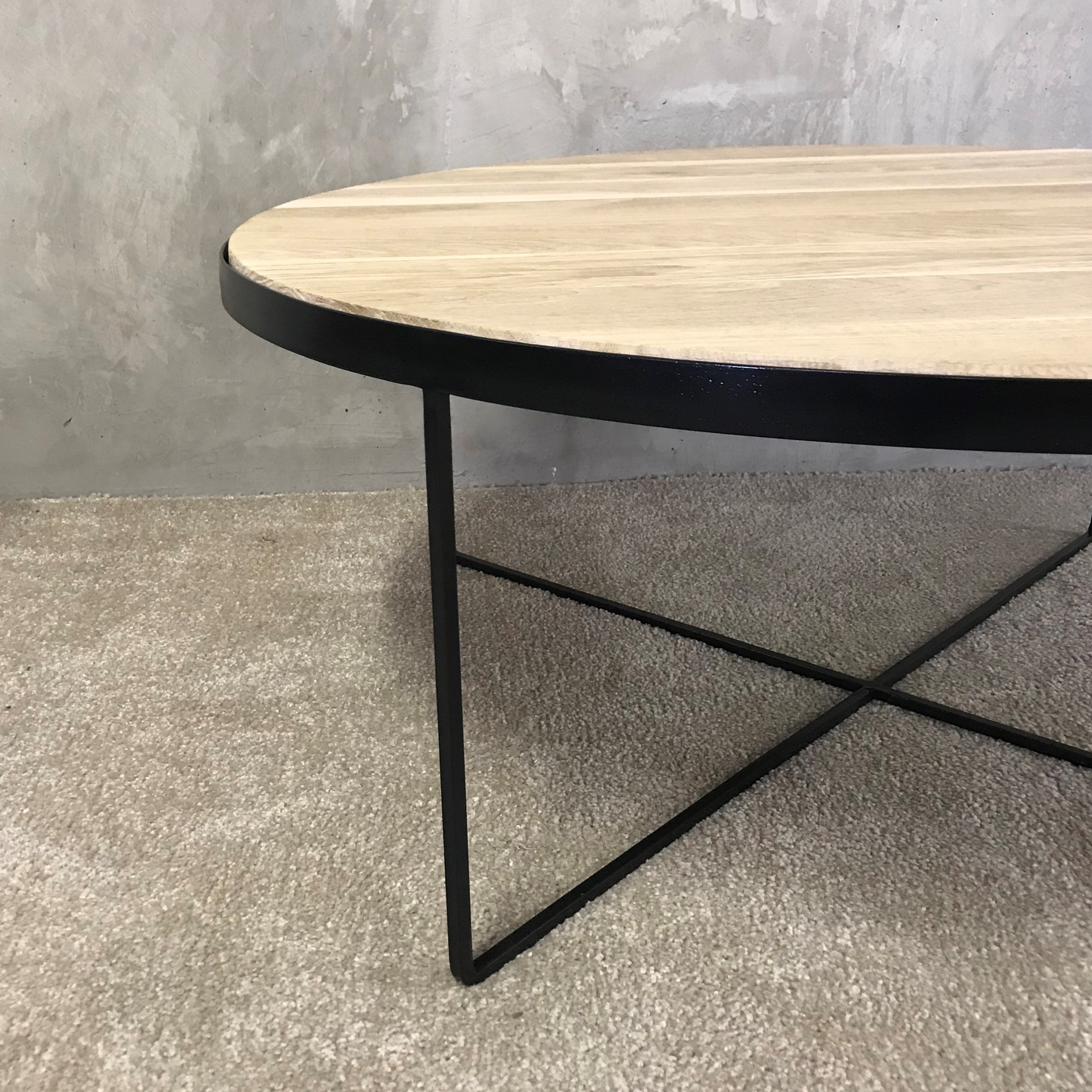 Oia White Marble Dining Table Oak 100cm: Melonwoods Indonesian Furniture