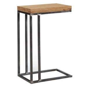SQ Aqua_Metal and wood Sofa Side Table