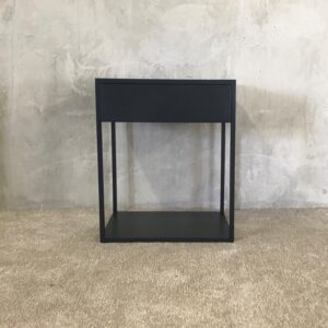 wooden side table with extendable drawer