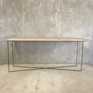 Hall table with metal legs