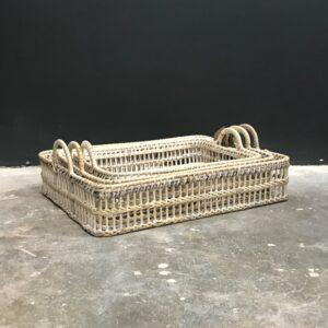 V_LAM529 -Rectangular Rattan Tray SET 1