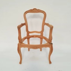 Louis Dining Armchair w Carving 1070 RAW