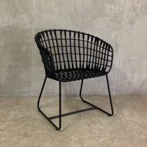 Eco Chair synthetic rattan BLACK_1