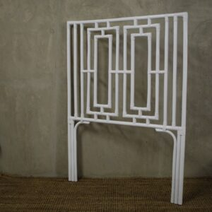 T_35 White rattan headboard single