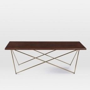 SQ Baltic Coffee_Metal leg Coffee table with wooden top