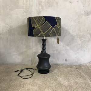 Black Lamp with Shade
