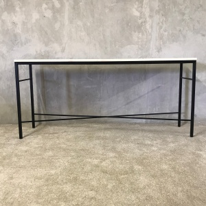 Metal and wooden hall table