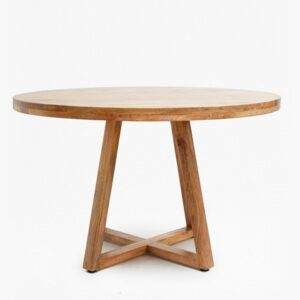 Round Dining table X leg_1